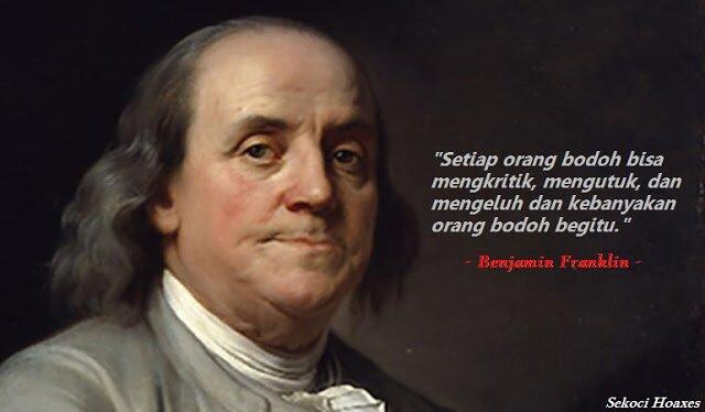Benjamin Franklin Hoaxer Seni Satir