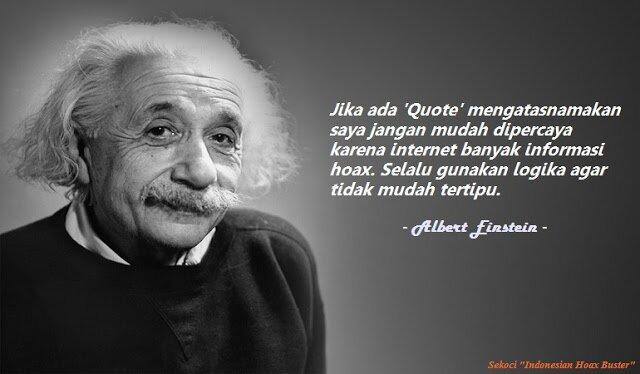 Hoax Mengatasnamakan Albert Einstein
